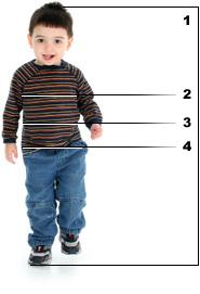 Kindergrößen-Tabelle