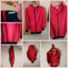 Tragejacke 4in1 von GoFuture with Love in XL in rot